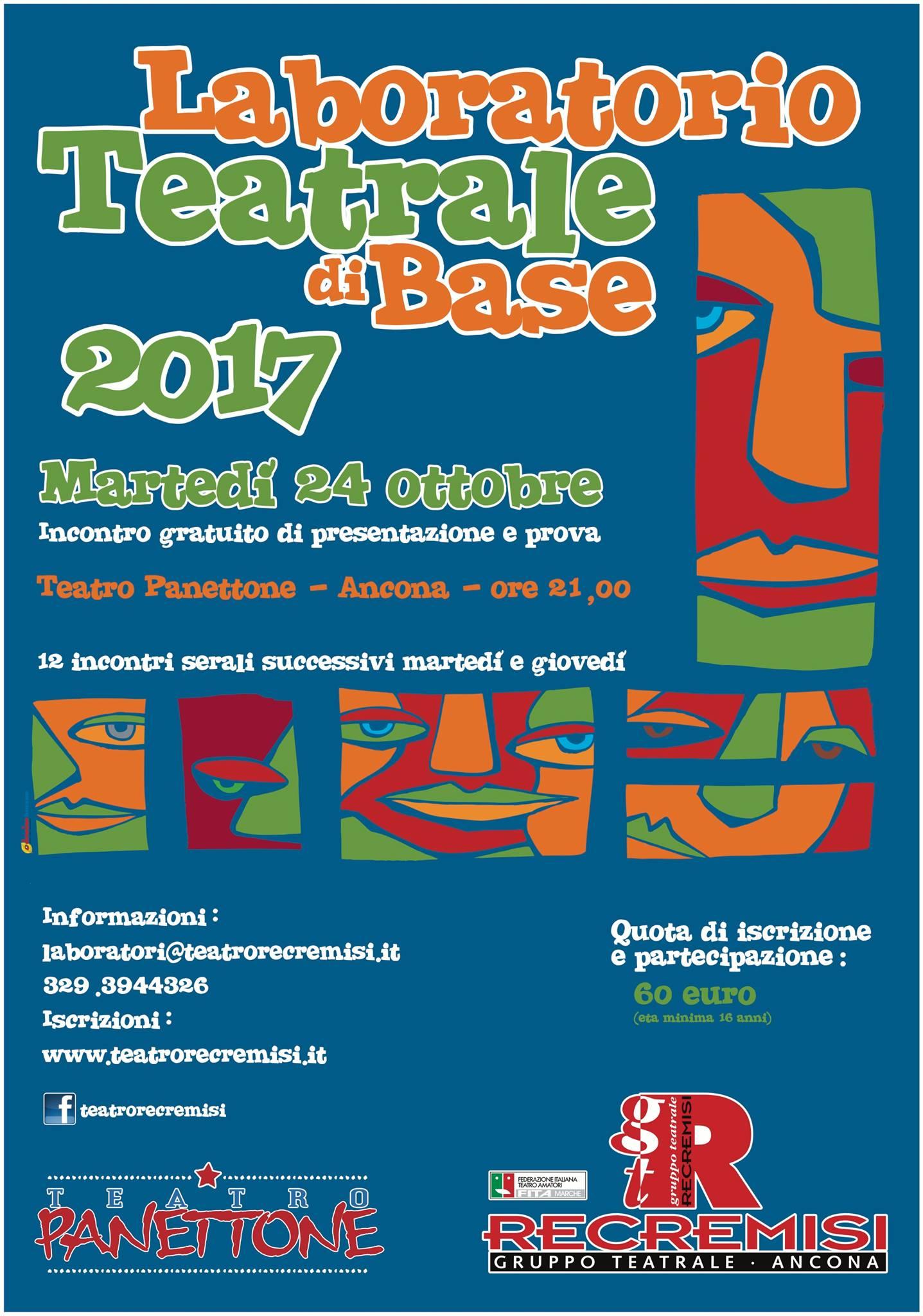 Aperte le iscrizioni per la Formazione Teatrale 2017/18 targata Recremisi