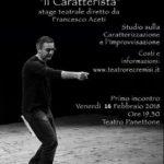 Il Caratterista - Stage teatrale con Francesco Aceti