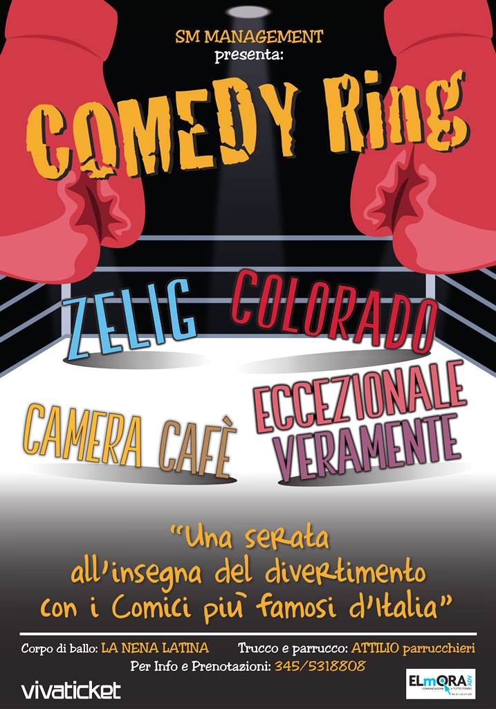 COMEDY RING – EVENTO ANNULLATO