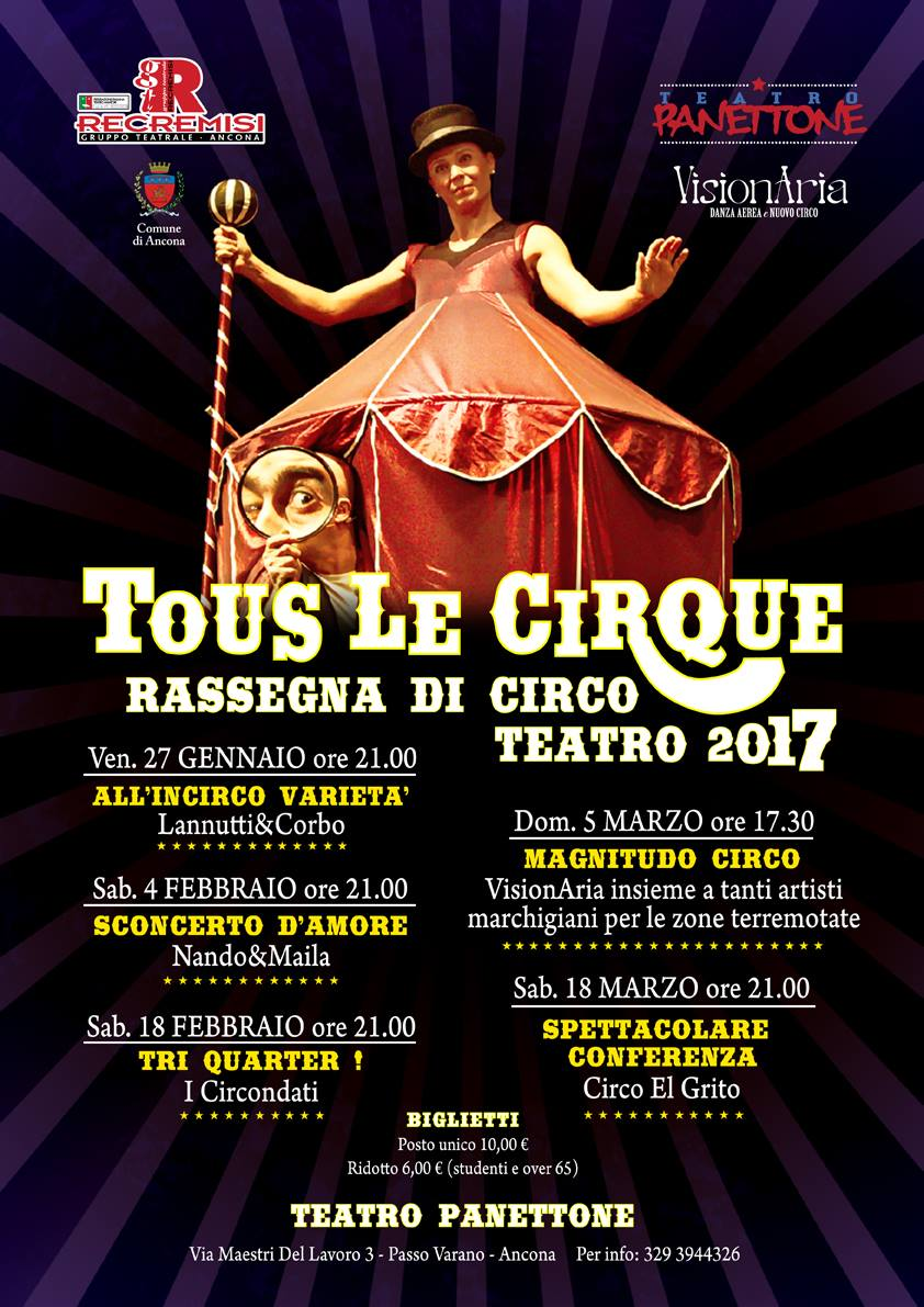 Tous Le CirQue 2017 – Rassegna di Circo Contemporaneo
