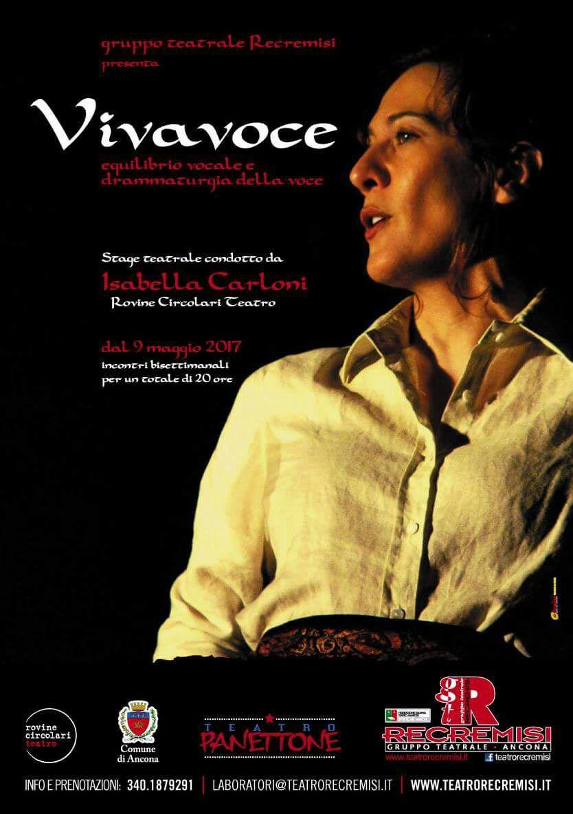 Ultimi posti disponibili per lo Stage VIVAVOCE di Isabella Carloni