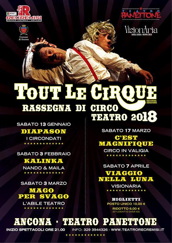 TOUT LE CIRQUE 2018 - Rassegna di Circo Contemporaneo