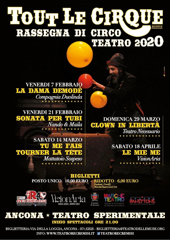 Tout Le CirQue 2020 – Rassegna di Circo Teatro